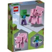 21157 LEGO Minecraft BigFig Gris med zombiebaby 7+