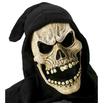 Döskalle mask med huva - Döskalle mask med huva