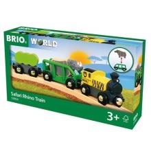 BRIO® World - 33964 Safari Noshörningståg 3+