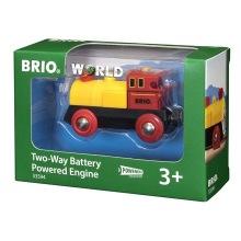 BRIO - Rail & Road 33594 Batteridrivet lok - röd/gul