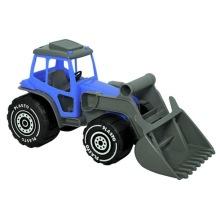 Plasto, traktor med frontlastare