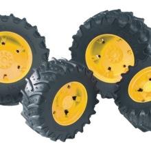 Bruder Tvillinghjul gula fälgar