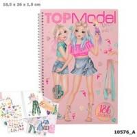 Top Model Pyssel bok Dress me up med 186st Stickers