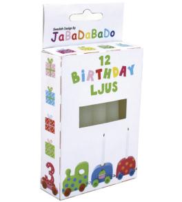 Jabadabado Födelsedagståg / Ljusstake Svart / Vit - Ljus till födelsedagståg