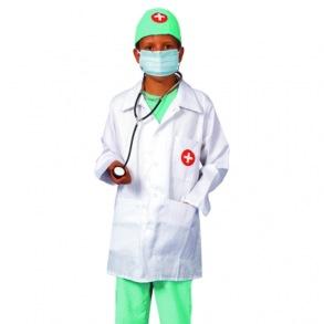 Doktorskläder, utklädnad doktor 4-6 År - Doktorskläder, utklädnad doktor 4-6 År