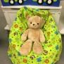 Babypuff, sittsäck till bebisar - Babypuff, sittsäck, grön djungel