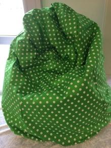 Babypuff, sittsäck till bebisar - Babypuff, sittsäck, Grön-vit prick