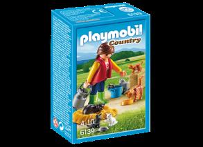 Playmobil 6139, Kvinna med katter - Playmobil 6139, Kvinna med katter