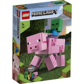 21157 LEGO Minecraft BigFig Gris med zombiebaby 7+ - 21157 LEGO Minecraft BigFig Gris med zombiebaby 7+