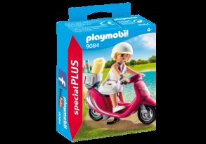 Playmobil 9084, Flicka med Scooter - Playmobil Flicka med Scooter