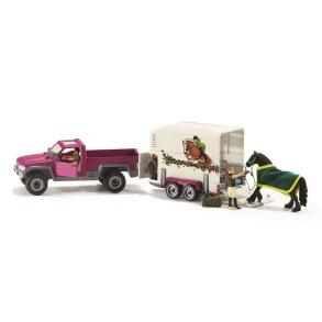 Schleich - Pick-up-bil med hästtransport - Schleich - Pick-up-bil med hästtransport