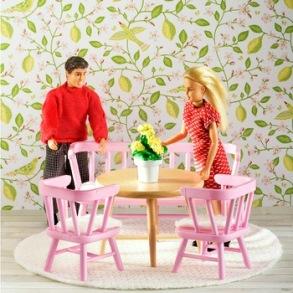 Lundby, småland, köksmöbler rosa - Lundby, småland, köksmöbler rosa