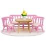 Lundby, småland, köksmöbler rosa