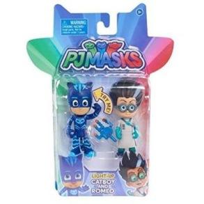 Pyjamashjältarna lysande figurer - 2p Kattpojken & Romeo - Pyjamashjältarna lysande figurer - 2p Kattpojken & Romeo