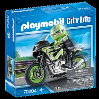 70204 Playmobil City life - motorcykel med förare 4+
