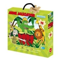 Träpussel Arne Alligator 15 bitar