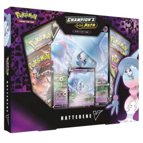 Pokemon TCG: SWSH 3.5 Champion's Path Hatterene box - presentask med samlarkort - Pokemon TCG: SWSH 3.5 Champion's Path Hatterene box - presentask med samlarkort