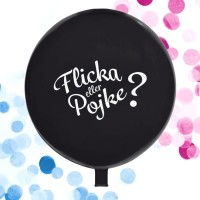 Jätteballong - Pojke Eller Flicka 65 Cm