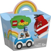10957 LEGO Duplo - Brandhelikopter och Polisbil 1½+
