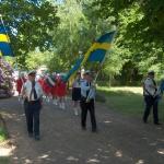 Nationaldagen, inmarsch i Billesholms Folketspark