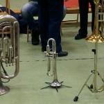 Visning av instrument på Varagårdsskolan