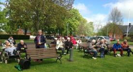 Utekonsert Kristi Himmelsfärdsdag utanför Alegården församlingshem
