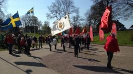 1 maj 2016 demonstration Folketshusparken