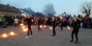 Valborg 2016 Bjuv/Helsingborg Drillsportförening eldshow
