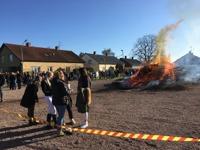 Valborg 2017, bålet