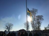 Valborg 2017, Sveriges flagga spelas ner