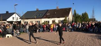 Valborg 2017, delar av Bjuvs- och Helsingborgs drillsportförening