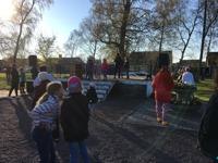 Valborg 2017, dans av konferencier Anna Jacobsson mfl