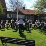 10 maj 2018 Kristi himmelsfärdsdag, spelning utanför församlingshemmet i Bjuv