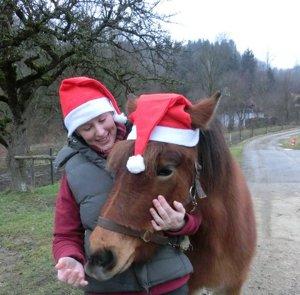 Christmas photo of Sandra with happy Anna :D