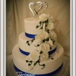 tårtmagi bröllop blueheart