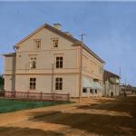 Färglagd byggnad