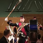 The Thistle Pipe Band spelar upp