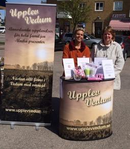 Vi som arbetar med Upplev Vedum är Jessica Andersen (hemsida, sociala medier) och Carina Johansson (projektledare)
