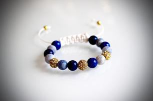 Agat & jade armband -
