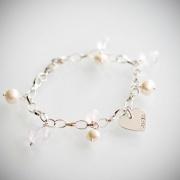 Armband med silverhjärta