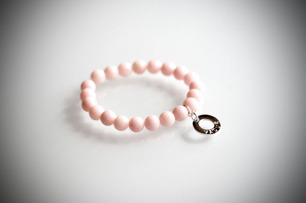 Armband med halvädelstenar - Rosa