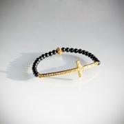 Kors armband, guld
