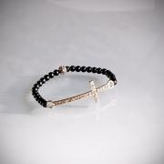 Kors armband, silver