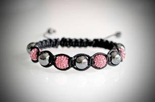 Shamballa armband - Rosa