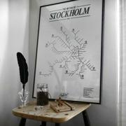 Metro of Stockholm 1950 50x70 cm