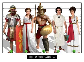 Uppdrag 5.  Octavianus guldskatt stulen! - Romerska Uppdrag 5.  Paket för 2 - 6 barn. Totalpris