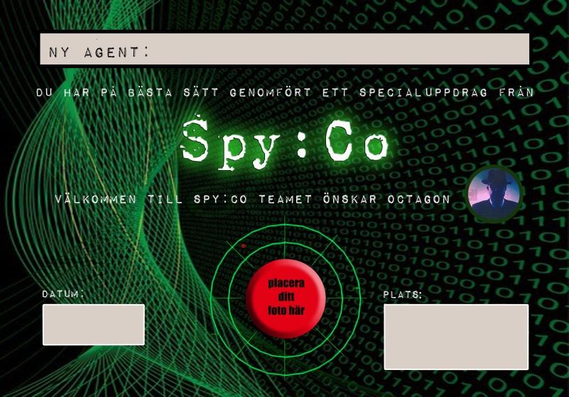 Diplom från Spy:Co barnkalas