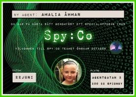 Spy:Co Diplom med agentbild