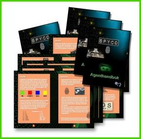 Agenthandböcker till varje barn - Spy:Co barnkalas