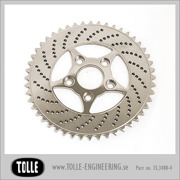 Sprocket brake rotor 48 teeth 4 piston